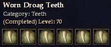 Worn Droag Teeth