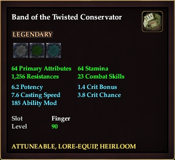 Band of the Twisted Conservator