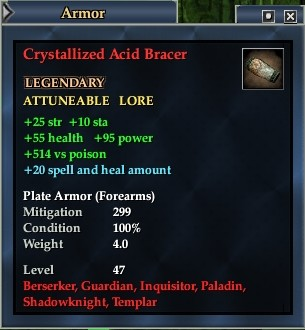 Crystallized Acid Bracer