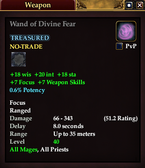 Wand of Divine Fear
