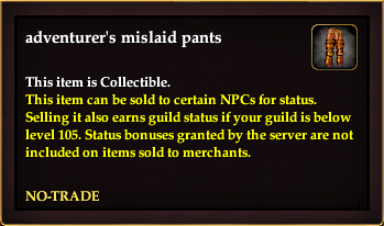 Adventurer's mislaid pants