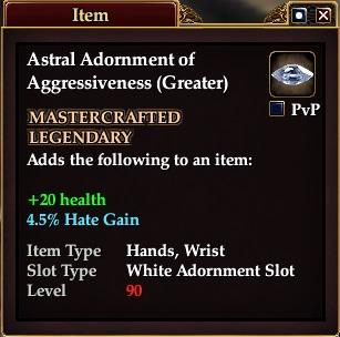 Astral Adornment of Aggressiveness (Greater)
