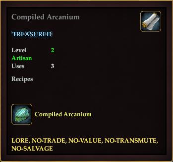 Compiled Arcanium (Recipe Book)