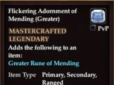 Flickering Adornment of Mending (Greater)