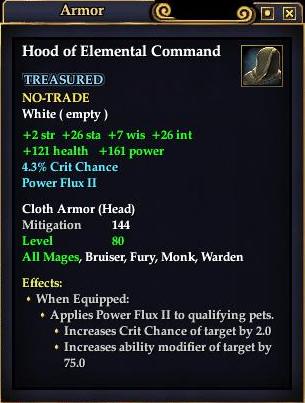 Hood of Elemental Command