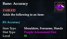 Rune: Accuracy (92, purple, Fabled)