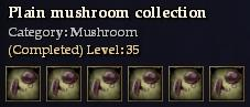 Plain mushroom collection