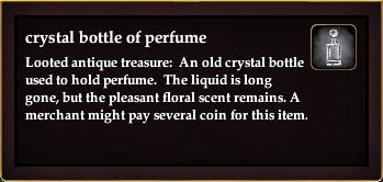 Crystal bottle of perfume