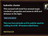 Kaborite cluster (QuestReward)