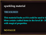 Sparkling material