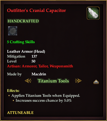 Outfitter's Cranial Capacitor