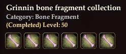 Grinnin bone fragment collection