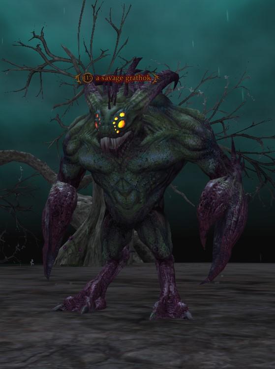A savage grathok