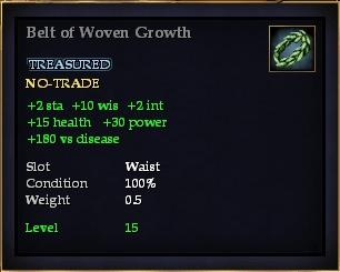 Belt of Woven Growth