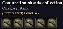 Conjuration shards collection