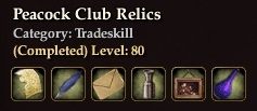 Peacock Club Relics
