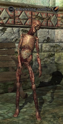 A festering zombie