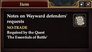 Notes on Wayward defenders' requests