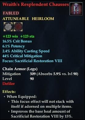 Wraith's Resplendent Chausses
