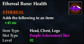 Ethereal Rune: Health