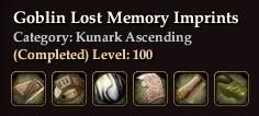 Goblin Lost Memory Imprints