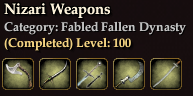 Nizari Weapons