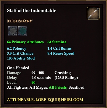 Staff of the Indomitable