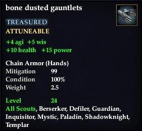 Bone dusted gauntlets