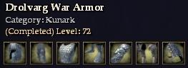 Drolvarg War Armor