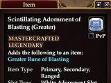 Scintillating Adornment of Blasting (Greater)