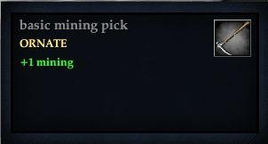Basic mining pick