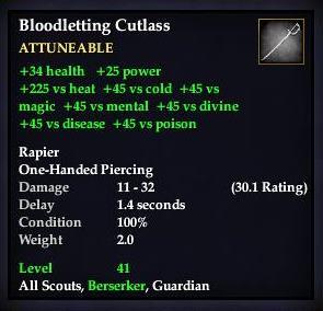 Bloodletting Cutlass