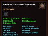Birchbark's Bracelet of Memoriam