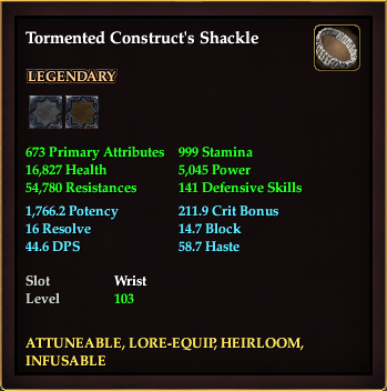 Tormented Construct's Shackle
