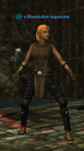A Bloodsaber inquisitor