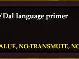 A Cae'Dal language primer