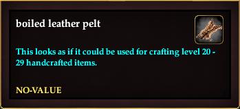 Boiled leather pelt (Version 10)
