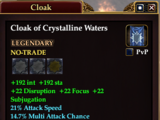 Cloak of Crystalline Waters (Mage)