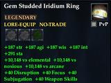 Gem Studded Iridium Ring