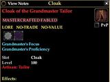 Cloak of the Grandmaster Tailor
