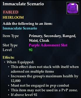 Immaculate Scenario (92, Heirloom, purple, Fabled) (Crate Reward)