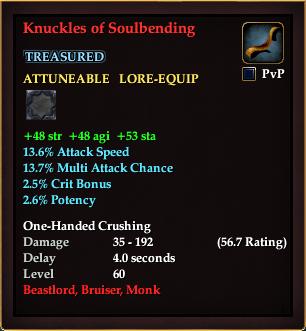 Knuckles of Soulbending (Level 59)