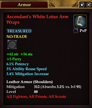 Ascendant's White Lotus Arm Wraps