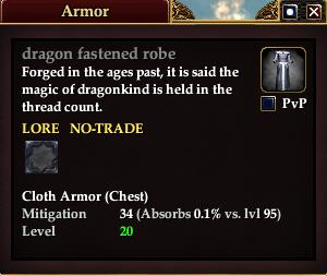 Dragon fastened robe