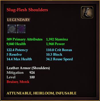 Slug-Flesh Shoulders