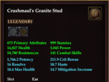 Crushmaul's Granite Stud