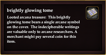 Brightly glowing tome