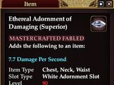Ethereal Adornment of Damaging (Superior)