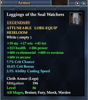 Leggings of the Seal Watchers