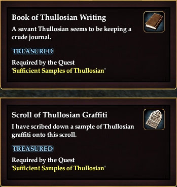 Sufficient Samples of Thullosian